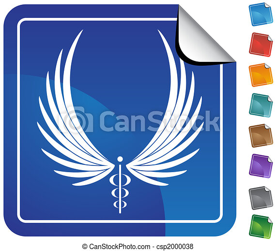 Caduceus Minimal Sticker - csp2000038