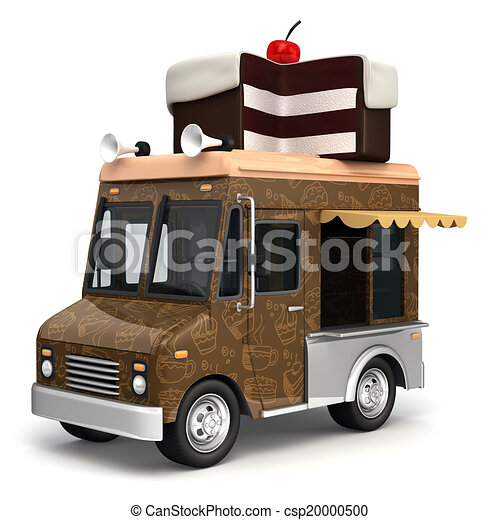 Cake Delivery Vector