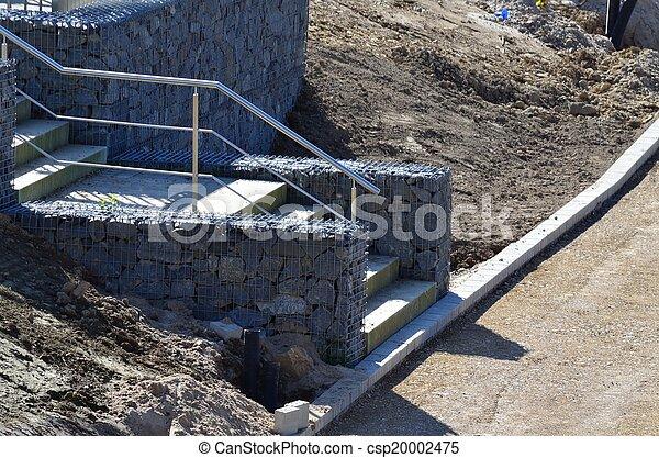 image de gabion escalier gabion depuis les italien. Black Bedroom Furniture Sets. Home Design Ideas