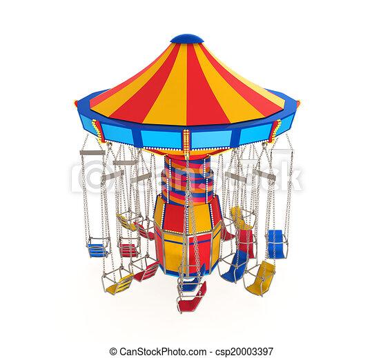 stock illustration of carnival swing ride isolated on Fancy Carousel Horse Clip Art carousel horse clip art free