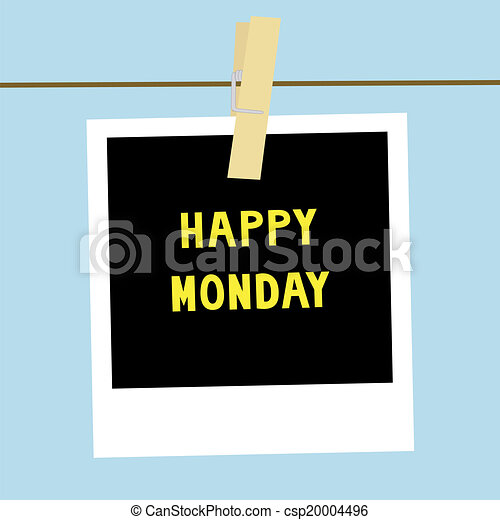 Happy Monday letters on the card. csp20004496 - Search Vector Clipart ...