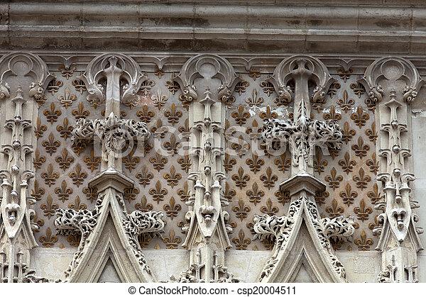 Stock fotografie van fleury ingang val de muur frankrijk blois kasteel csp20004511 - Muur van de ingang ...