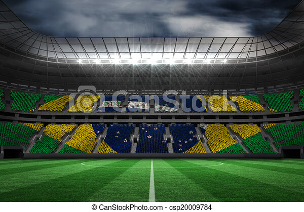 Composite image of digitally generated brazilian national flag - csp20009784