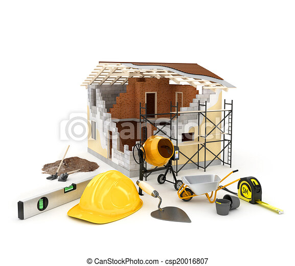 Stock illustration of building materials architecture for Home building resources