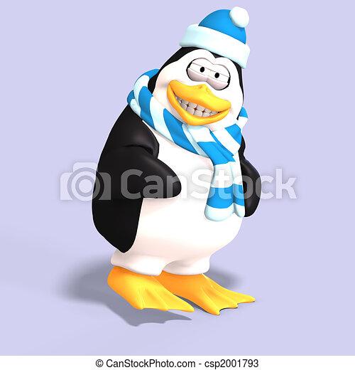male toon penguin - csp2001793