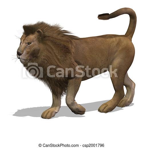 Big Cat Lion Male - csp2001796