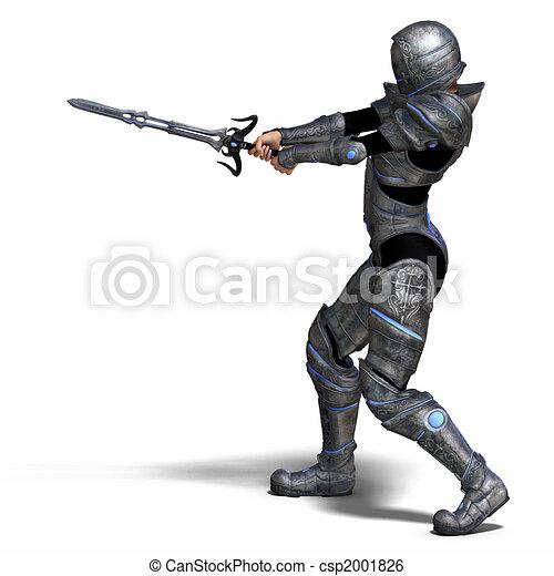 Female Fantasy Knight - csp2001826