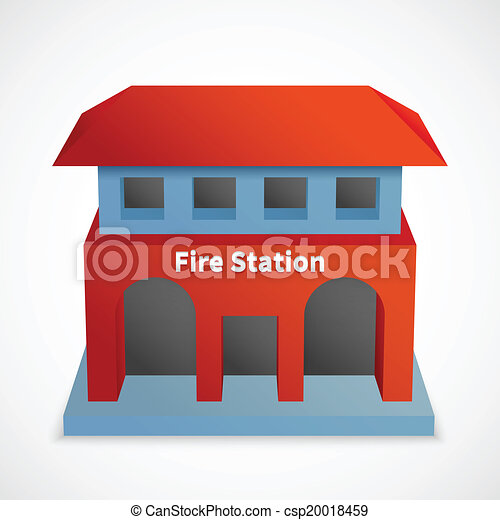 Fire station Vector Clip Art EPS Images. 1,945 Fire station ...