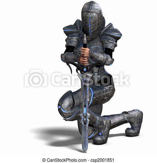 Female Fantasy Knight - csp2001851