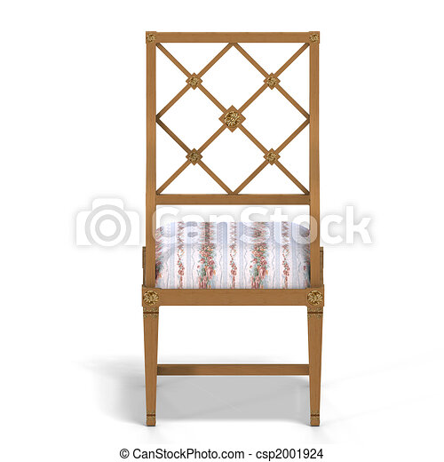 classical chair - front view - csp2001924