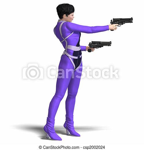 Female Agent Blue - csp2002024
