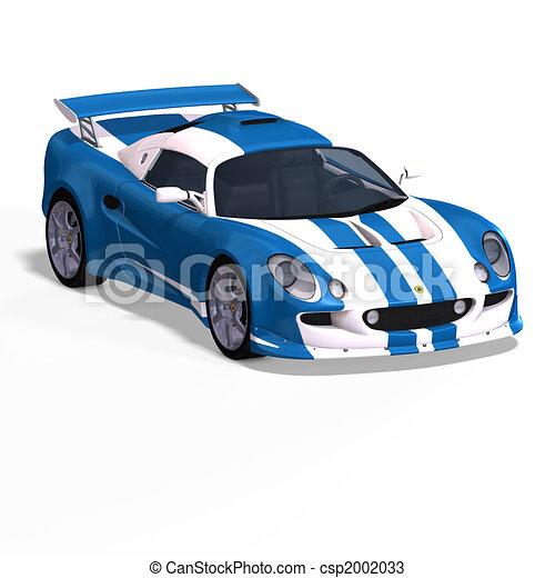 Dessins de bleu voiture blanc courses fantasme - Dessin voiture de rallye ...