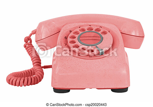 Old phone isolated on white - csp20020443