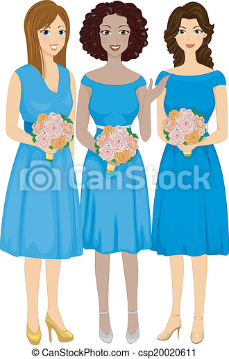 Bridesmaids Clipart Vector and Illustration. 414 Bridesmaids clip ...