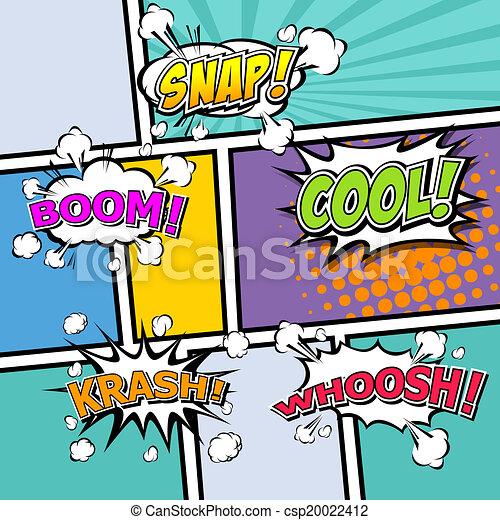 comic template Vector Pop-Art  - csp20022412
