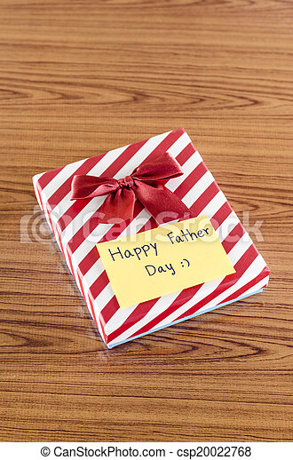 gift box with card write happy father day