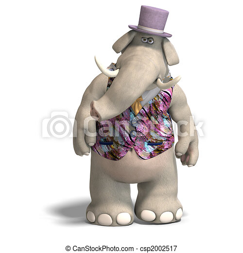 Elephant Bridegroom in tux - csp2002517