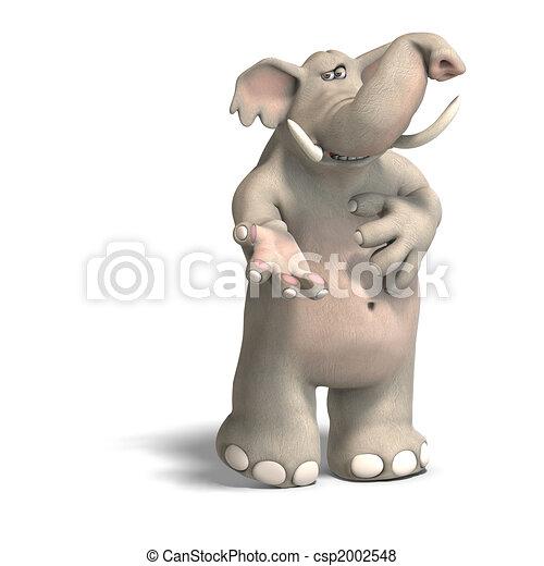 toon elephant invites - csp2002548
