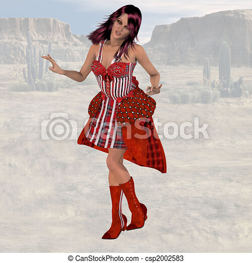 Saloon Girl #02 - csp2002583