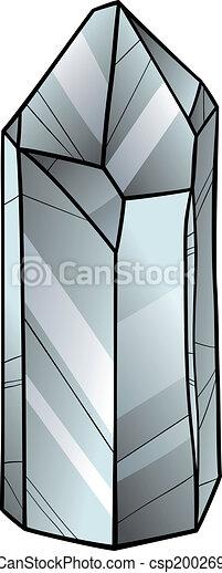 Clipart Vector Of Quartz Or Crystal Cartoon Illustration