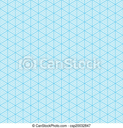 Eps Vector Of Isometric Graph Paper - Seamless Csp20032847