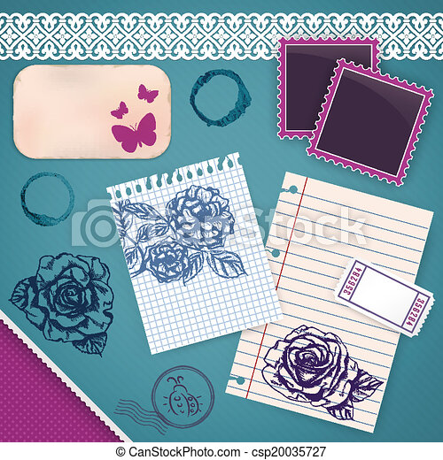 Scrapbooking Set: My Little Diary - csp20035727