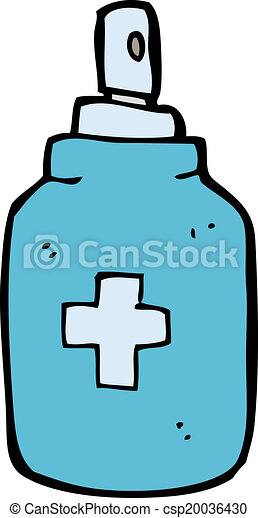 cartoon antiseptic spray - csp20036430