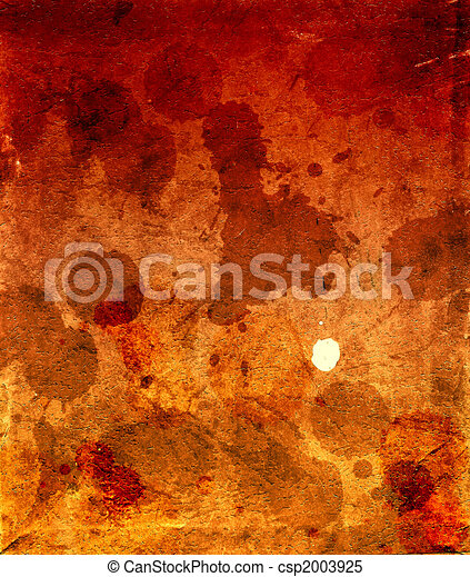cardboard in spots of a dirt and blood - csp2003925