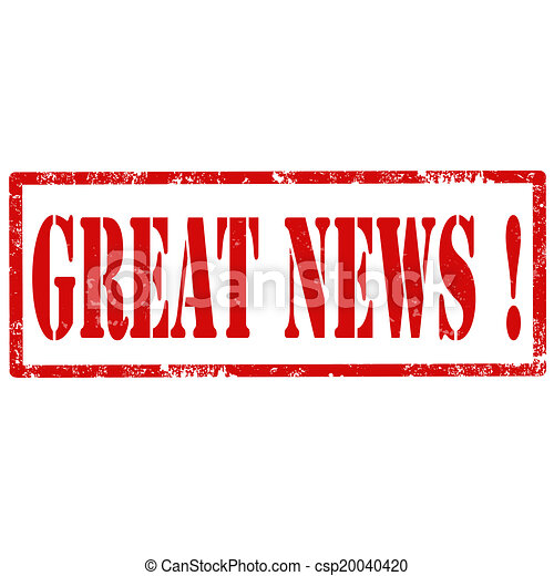 Great News-stamp - csp20040420Great News Clipart