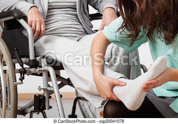 Disabled person during rehabilitation - csp20041078