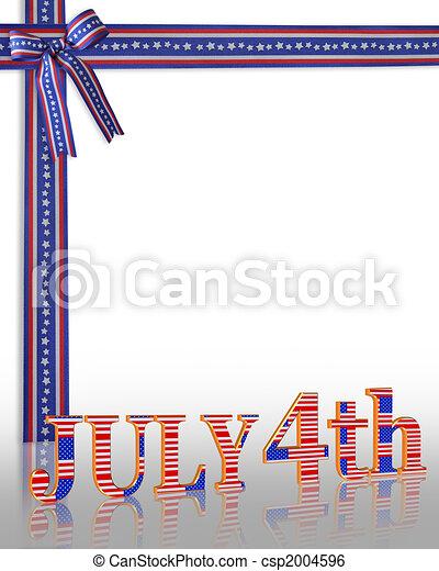 July 4Th background border - csp2004596