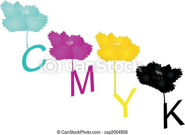 Cyan, Magenta, Yellow and Key colors.. - csp2004856