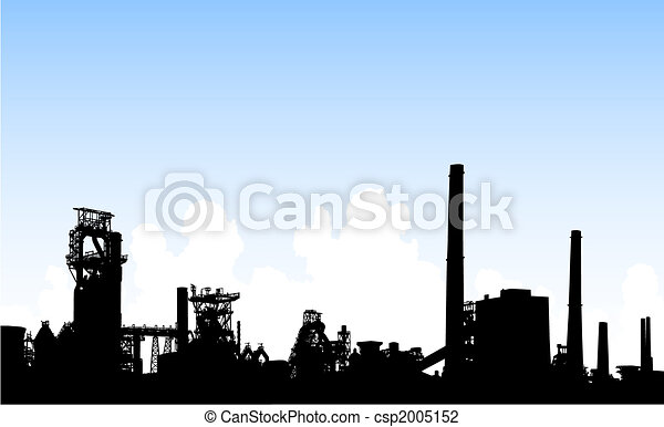 Industrial skyline - csp2005152