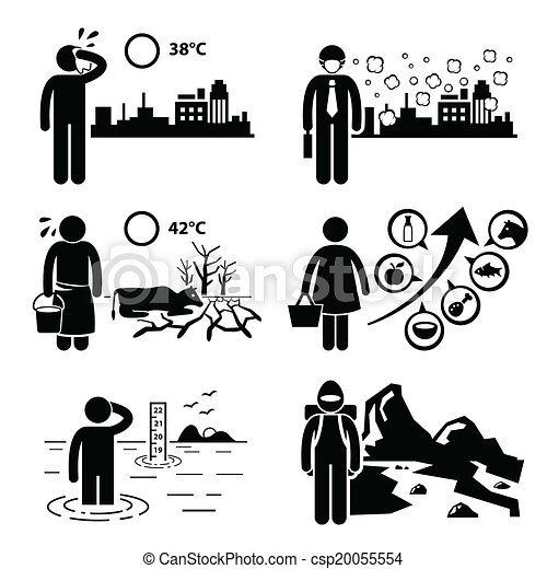 Global Warming Effects Cliparts - csp20055554