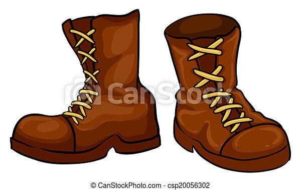 Paire, brun, bottes , csp20056302