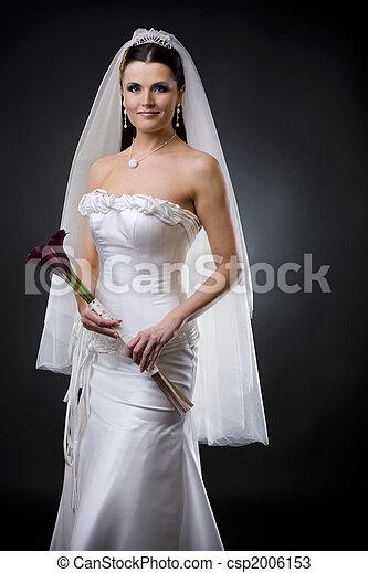Bride in wedding dress - csp2006153