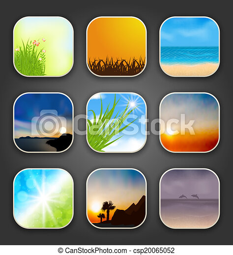 Natural landscapes for the app icons - csp20065052