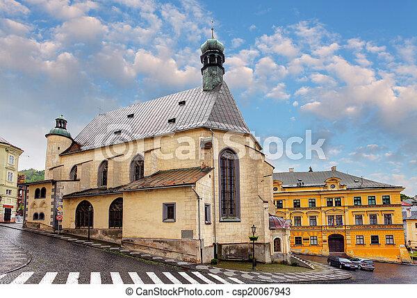 Banska Stiavnica, St. Katharine church, Slovakia. - csp20067943
