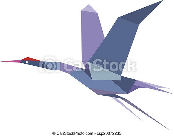 vecteurs de voler h ron l gant origami grue ou l gant origami csp20072235. Black Bedroom Furniture Sets. Home Design Ideas