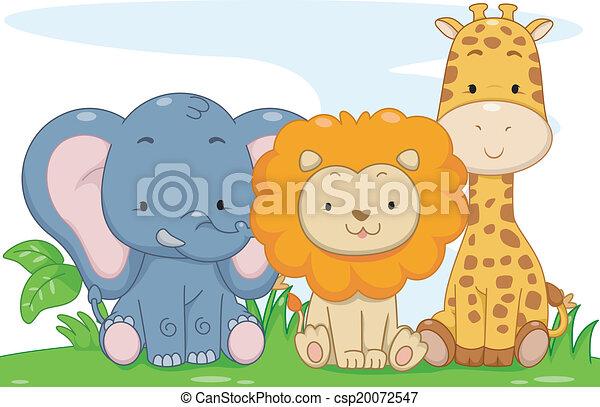 Baby Safari Animals - csp20072547