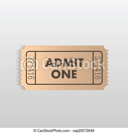 Admit One Ticket - csp20072649