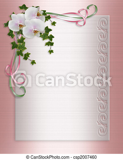 Orchids and ivy Wedding invitation csp2007460 Ivy orchids flowers image