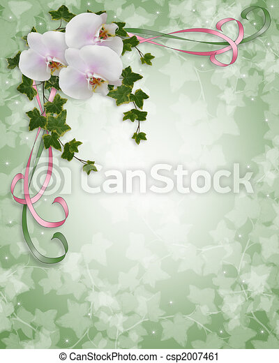 Orchids and ivy Wedding invitation csp2007461 Ivy orchids flowers image
