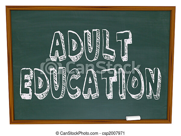 Adult Education - Chalkboard - csp2007971