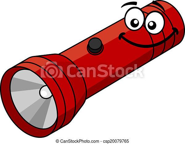 Taschenlampe clipart  Clip Art Vektor von taschenlampe, karikatur - Red, taschenlampe ...