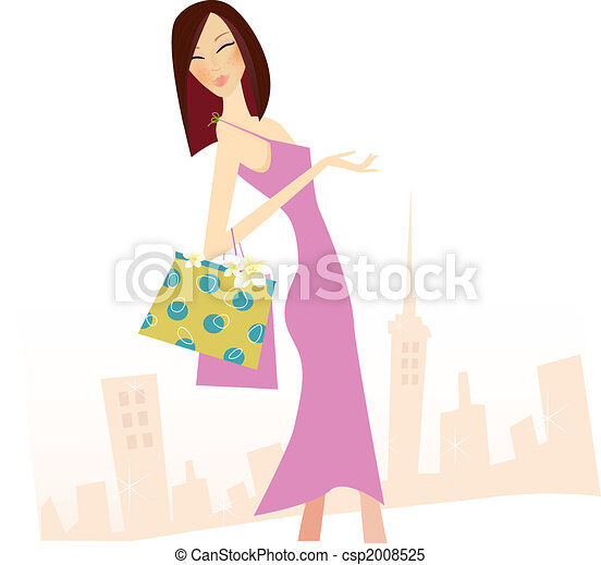 Spring shopping - csp2008525