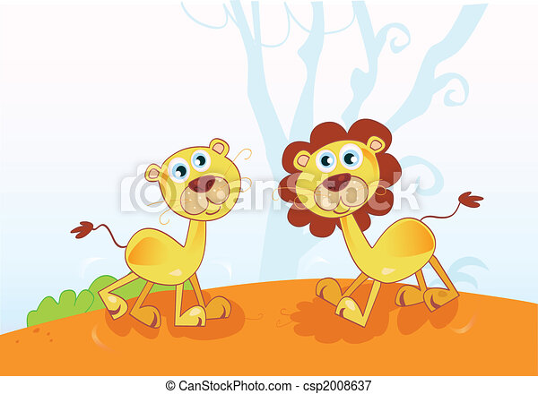Funny African Lions - csp2008637