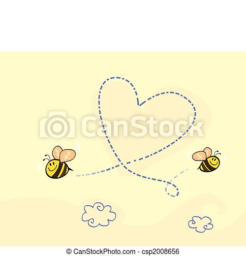 Bee\'s heart - csp2008656