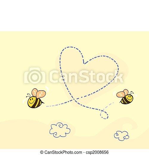 Bee\'s heart - csp2008656