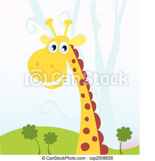 African Giraffe - csp2008658